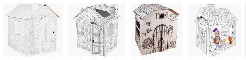 casitas de carton para pintar